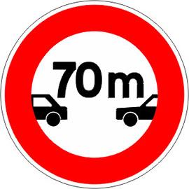 Interdiction-aux-véhicules-de-circuler-sans-maintenir-entre-eux-un-intervalle-au-moins-égal-au-nombre-indiqué