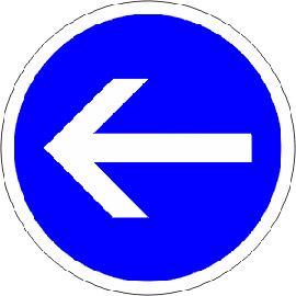 Obligation-de-tourner-à-gauche